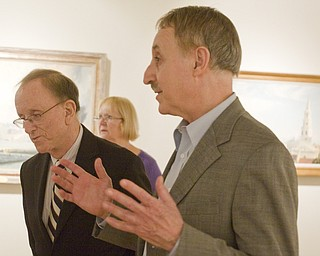 LISA-ANN ISHIHARA | THE VINDICATOR ..Butler Director Dr. Lou Zona introduces Artist John Stobart to talk about his work exhibited in  The Grandeur of America's Age of Sail at The Butler Institute of American Art, Sunday, May 2, 2010
