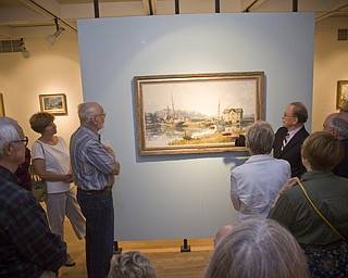 LISA-ANN ISHIHARA | THE VINDICATOR ..Artist John Stobart talks about his paintings during his exhibit, The Grandeur of America's Age of Sail at The Butler Institute of American Art, Sunday, May 2, 2010