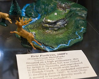 "LISA-ANN ISHIHARA | THE VINDICATOR..""Erie Fortress, 1600's"" is a small scale model of French Creek MetroPark created by Joseph Donnelly.."