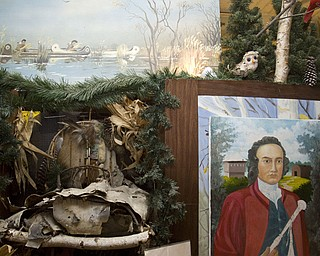 """LISA-ANN ISHIHARA   THE VINDICATOR..A quote from Sir William Johnson """"I have daily to combat with thousands, who, by their avarice, cruelty or indiscretion, are constantly counteracting all judicious measures with the Indians; but I shall still persevere."""" hangs alongside a portrait painted by Joseph Donnelly."""