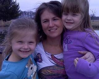 Jessica Lanham of Goshen with her daughters, Mariah and Makayla.