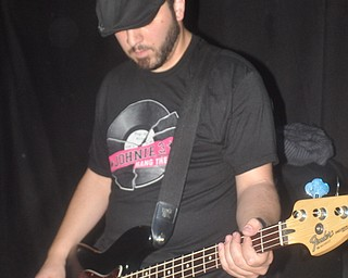Angelo Scordo filling in on bass with Asleep at Cedars Lounge, Saturday, May 8, 2010.