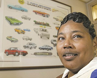 Angela Seay, 46, originally from Baltimore, Md., has been with GM since 1994, but this is her first time to have to move for the company. Transfer employees to the Lordstown plant will help make up the third shift needed to build the new Chevrolet Cruze.