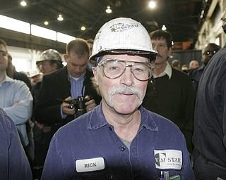 William D Lewis| The Vindicator  V&M employee RicK Van Tassel of Sharon during visit of President Obama 5-18-10.