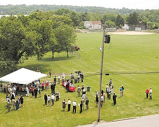 Ground was broken on a $400,000 Harrison Commons project at the site of Harrison Field in Smoky Hollow. The new park will feature a plaza and an arbor for plays and concerts.