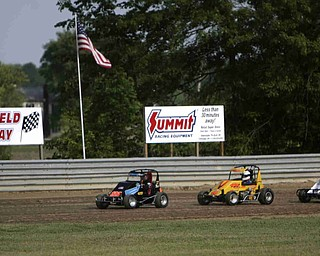 ROBERT K. YOSAY | THE VINDICATOR..Deerfield Raceway on the outskirts of Deerfield on State Route 224 has racers racing against each other in sprints for position for the finals.-30-