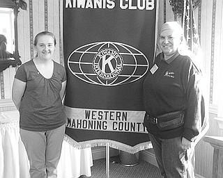 Circle K member travels: The guest speaker at the June 9 meeting of Kiwanis Club of Western Mahoning County was Jessica Ricker, left, president of the Akron Circle K, the college branch of Kiwanis International. The junior, a daughter of Robert and Carol Ricker of Austintown, will attend the Large Scale Service Project July 30-Aug. 3 in St. Louis with Circle K members from around the world. Joining the young speaker at the event was Barbara Smith, president of the Kiwanis Club, who will be a voting delegate at the International Kiwanis Convention June 24-27 in Las Vegas. The club will present $1,000 scholarships to three graduating seniors, Morgan Pinney of North Jackson High School, Nathanaphon Banchorg of Mahoning County Career and Technical Center, and Hayley Herock of Canfield High School.