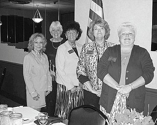 Prepared to serve: An installation ceremony was the highlight of the June 3 meeting of Warren Republican Women's Club at DiLucia's Banquet Room in Warren. Inducted were, from left, Marsha Hubbard, treasurer; Paula Synder, secretary; Shelby McElravy, second vice president; Barb Rosier-Tryon, president; and Cary Ann Koren, first vice president. The 2010-2011 officers will assume their duties when the fall season begins in September.
