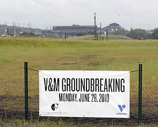 ROBERT K. YOSAY | THE VINDICATOR...V & M and its parent company, Vallourec, will host dignitaries from federal, state, county and local government, along with partners in the business community and more than 100 employees for a groundbreaking ceremony to officially begin construction of the companyÕs new mill..The planned mill Ñ a state-of-the-art, hot-rolling, seamless pipe mill Ñ represents a $650 million investment for Vallourec and will lead to the creation of 750 construction and permanent mill jobs. -30--