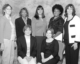 The Junior League of Youngstown has voted to accept new Active Members. Seven of the new members are, front row, from left to right, Jennifer Soloman and Meghan Buck; and in the back row are Roberta Yash, Dorris Bullock, Katie Libecco, Carmella Williams and Lois Koval.