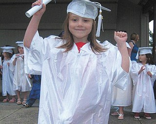 Hailey Tomory graduated from KiddinÕ Around preschool on June 5. She is the daughter of John and Brandy Tomory of Canfield.
