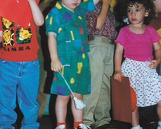 Aaron Hartsough of Canfield is shown during preschool graduation.