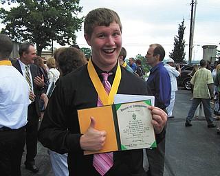 Jason Busch of Austintown graduated from Ursuline High School on June 5.