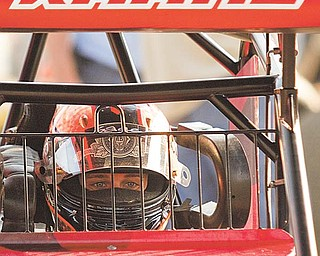 Geoffrey Hauschild|The Vindicator.Kasey Kahne at Sharon Motor Speedway on Wednesday evening.