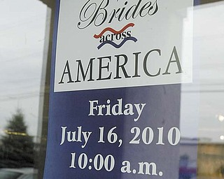 Treasured Moments Bridal and Formal, on U.S. Route 224 across from the Southern Park Mall, will have 20 to 30 wedding gowns to give away to qualified military brides Friday as part of the Brides Across America program.