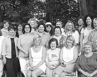 Meeting recently to plan for the group's 80th anniversary were, seated from left, Debbie Schultz, treasurer; Mary Ann Patrick, oldest active member; Patti Reitmann, president; and Paula McLaughlin, vice president; and, standing in first row, Rose-Ann Pastore, Stephanie Sheely, Lisa Mrakovich, Elaine Zarlingo, Barbara Kamensky, Stella Durse, Joyce Mistovich and Joyce Ellashek; and, in back, Carol Estok; Linda Rotunno; MaryBeth Cook, secretary; Mary Leo; Trish Marciano and Annie Saraceno. Not present for the planning session were Patti Dalleske, Alice Munger, Sharon Mosconi, Connie Penwell, Terri Pepe, Mary Lou Perry, Karyn Piper and Marlene Shirilla.