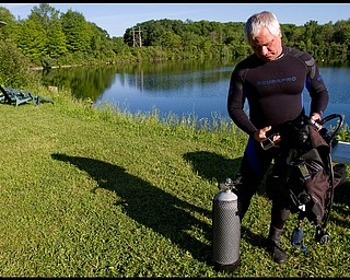 Geoffrey Hauschild.John Koczwara, of Poland, at B&B Diving in Hillsville PA.
