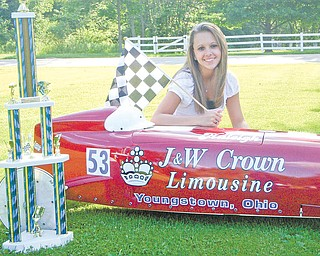 Haleigh Kuebler, of Berlin Center, will travel to Akron for the All-American Soap Box Derby on Saturday. Haleigh will compete in the masters division.