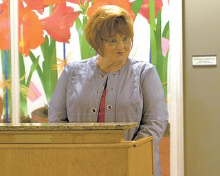 Shirley Eckley, of Hubbard, thanked the William Holmes McGuffey Historical Society and  the state legislature for work in getting a portion of Interstate 680 named after her great-great-great-grandfather, William Holmes McGuffey.
