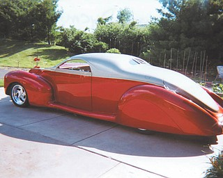 Ron and Bonnie Dycman of Canfield own this 1939 Lincoln Zephyr, which Ron has been building for the past 7 years and is nearly finished.