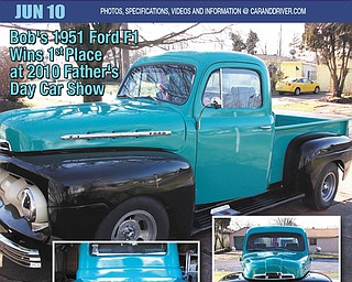 Debbie Barnard of Crosby, Texas, formerly of Girard, had this fake magazine cover made this year for her father, Bob Barnard of Girard, of his 1951 Ford F1.