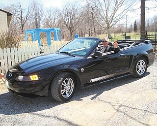 Vern Blazek of Poland is shown in his 2004 Mustang.