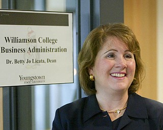 ROBERT K. YOSAY | THE VINDICATOR..Betty Jo Licata, Ph.D...The new Williamson College of Business Administration will provide a professional business education environment, a resource for the regional business community and a link between YSU and the cityÕs downtown.. ....-30-
