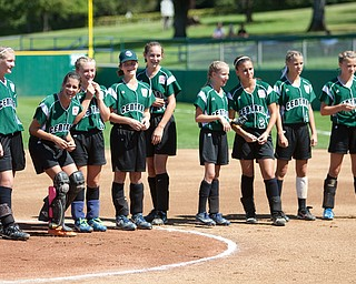 The girls from Ohio seemed relaxed and ready to chalk up another win before their game at the 2010 World Series of Little League Softball in Portland, Ore., August 15th, 2010. This game the team from Poland, Ohio face the team from Burbank Calif., Central was defeated by West, 0-1.