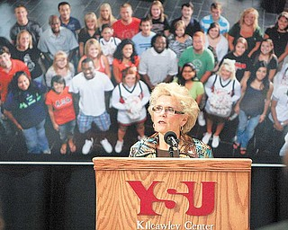 "Anderson envisions a strategic planning process leading YSU to the year 2020. The process will involve input from ""every campus colleague who chooses to contribute,"" she said."