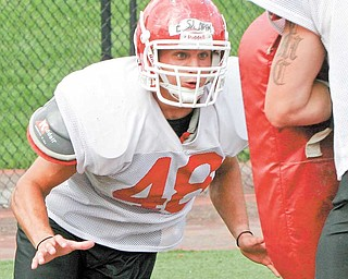 YSU sophomore linebacker Ethan Slark balances his football career with his responsibilities with the Air Force Reserves.