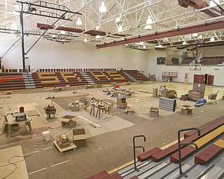 ROBERT K. YOSAY | THE VINDICATOR..The High school gym - South Range finally finished itÕs new K-12 building. Superintendent Dennis J. Dunham will show us around the new building....-30-..