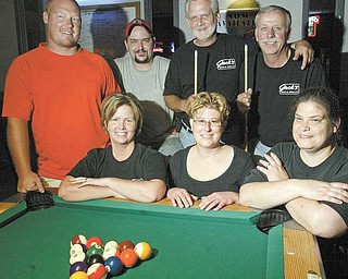 The Fruit Loops pool team is sponsored by Jack's Bar & Grill in Warren. Team members, from left, are (front row) Tami Harned, Sherrie Jenkins, Kathy Burke; (back row) Chad Dailey, Chris Littell, Jack Harned and Dave Everett. They will be competing in an amateur tournament in Las Vegas.