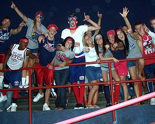 Austintown Fitch student section ready for the game against Chaney Cowboys