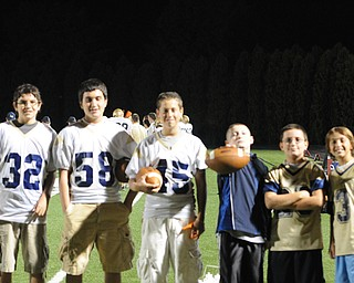 Some of the Lowellville water and ball boys take a moment for a picture during the Lowellville/ YCS game.  - KELLY TKACH