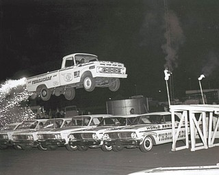 Chuck Cavanaugh of New Middletown submitted this Canfield Fair memory from 1968 of Swenson's Thrillcade in midair while doing the ramp jump.