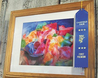 One of Annette McCarthy's memories of the fair, a first-place winning piece of art.