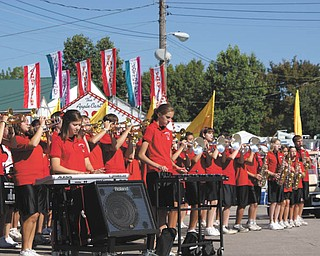 The Canfield High School Marching Band performs at the ribbon-cutting ceremony at the 2009 Canfield Fair. Photo taken by Laurie Fox of Lowellville.