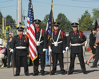 The Honor Guard's presentation of the colors at the 2009 fair's ribbon-cutting ceremony. Photo by Lauren Fox of Lowellville.