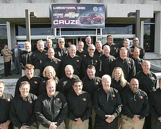 ROBERT K. YOSAY | THE VINDICATOR..Dealers from Western Pa and the Mahoning Valley were guests as GM Lordstown  Kicked Off the Chevy Cruze today at the Lordstown Plant  with the President of GM - Tim Ryan - The Boardman Band and a slew of elected officials -..-30-..