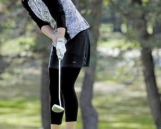 Alexandra Casi makes a putt at Greatest Golfer Tournament Saturday.