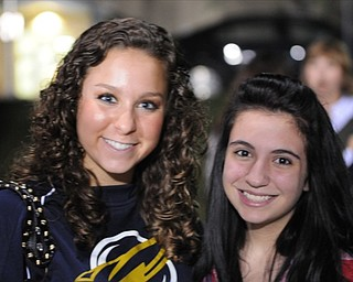 Cousins Gia Tkach and Jordan Kelly at the Lowellville / Western Reserve game.