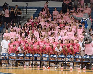 PSHS Varsity & JV Volleyball Team and their Poland Bulldog fans during  the volley for a cure game