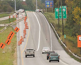 .A crossover condition has been implemented on state Route 11 over the Ohio Turnpike. This work is part of a $1.9 million project to raise and re-deck the bridge on state Route 11 northbound over the turnpike. The project is on schedule to be finished by late October.
