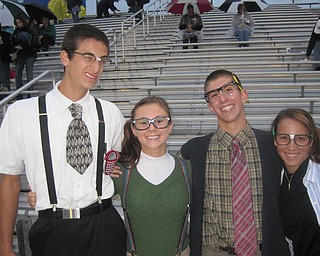 Ursuline fans dressed for the nerd theme