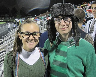 Ursuline Irish Fans dressed for the nerd theme