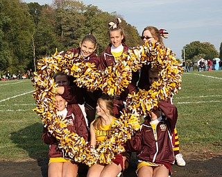 South Range Middle School Cheerleaders show love for their team