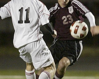 Boardman vs Canfield boys soccer.