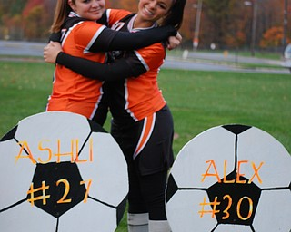 Springfield Senior Soccer players: Ashli Vinkler and Alex Pizzuto