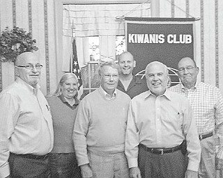 Prepared to lead: During a recent meeting the Kiwanis Club of Western Mahoning County elected a slate of officers, who will head the organization through Sept. 30, 2011. Pictured are, from left, Tom Eisenbraun, lieutenant governor of Division 21; Barb Smith, president; Bob Thomas, secretary; Dave Little, treasurer; Wally Sinn, president-elect; and Glen Sedgwick, vice president. The club meets at 6 p.m. each Wednesday at A La Cart in Canfield.
