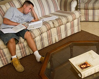 Geoffrey Hauschild|The Vindicator.6.29.2010.Resident Adam Freeman completes bible study work at OVTC.
